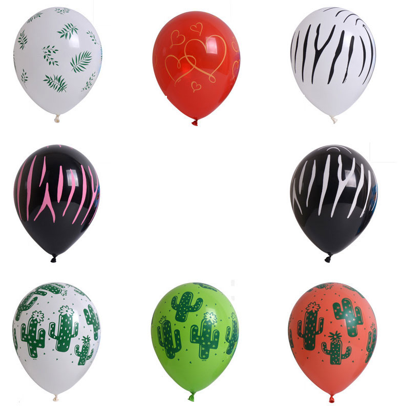 Bag of 2  Printed Latex Wedding Children's Birthday Party 11 inch balloon  Decoration Scenes in Various Sizes and Colors