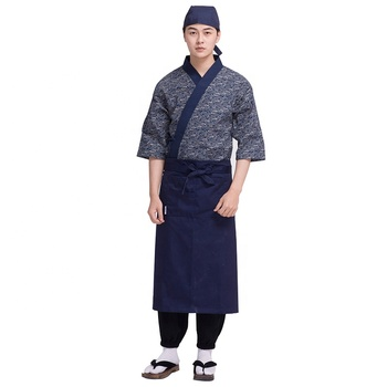 The Sushi bar Cook's uniform izakaya Fukuya Teppanyaki traditional chef uniform 100% Cotton pattern