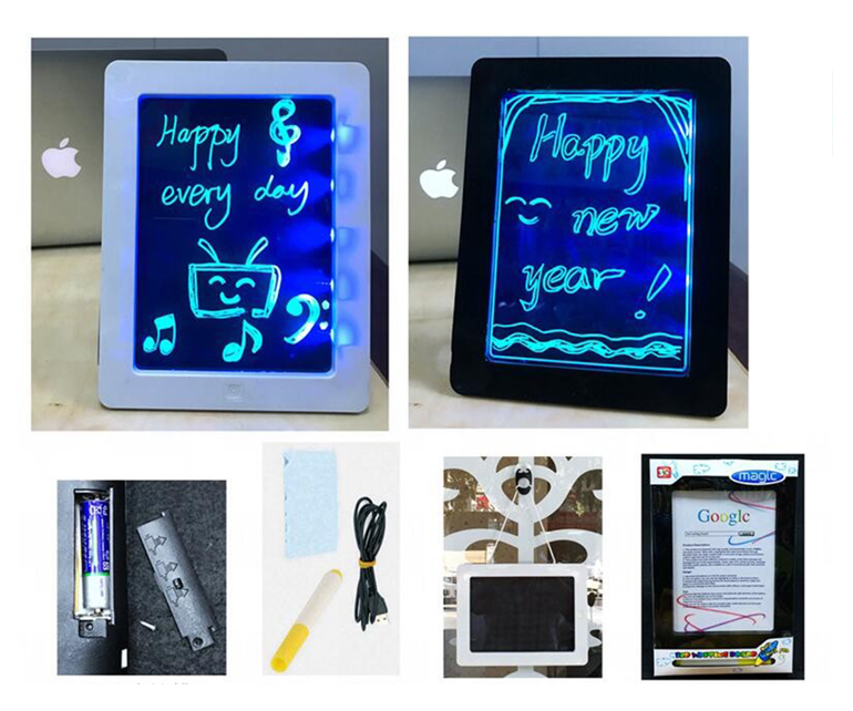 LED children magic painting drawing board educational toys writing for kids