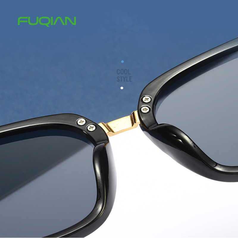 Fuqian womens black aviators company for lady-5