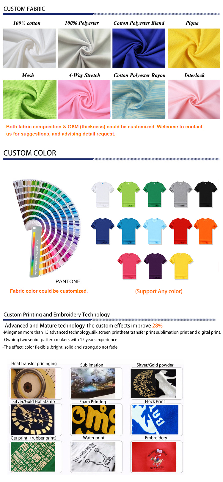 3D digital printed tshirt wholesale sublimation custom t shirt for men t-shirt printing
