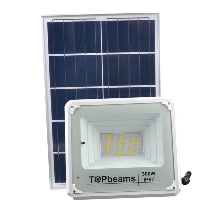 Latest new lamp 300W solar powered led flood light with remote control dusk to dawn