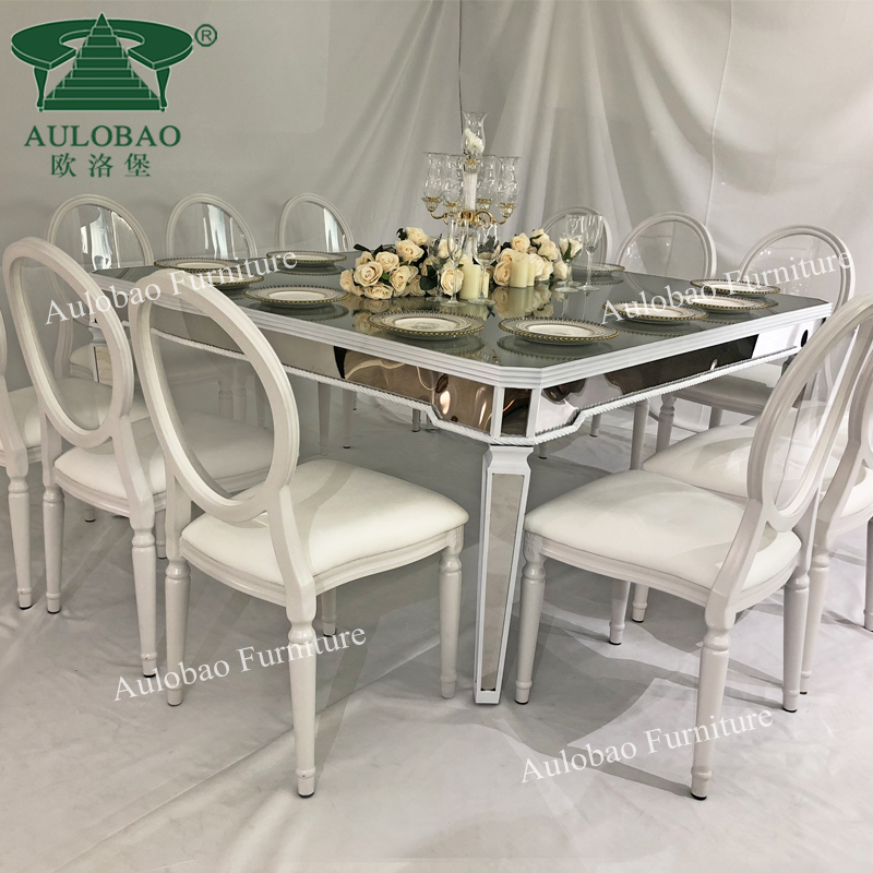Restaurant Dining Glass Top Wedding Decoration Centerpieces Table