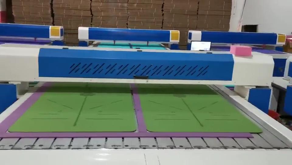 Esteira da ioga do TPE personalizado dois-cor largura e espessura da linha anti-skid esteira da aptidão do corpo fábrica atacado 6/8mm