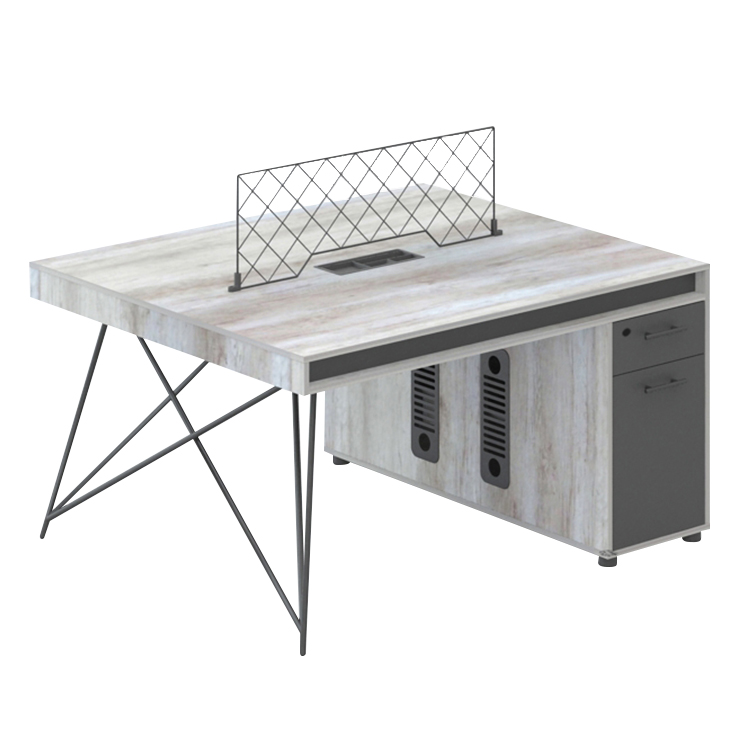 Moderne bureau d'affaires double poste de travail table style industriel MFC bureau d'ordinateur personnel