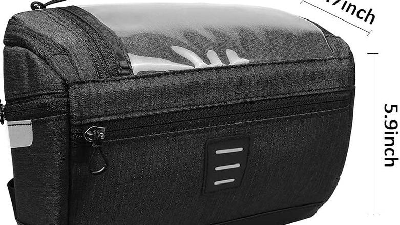 Özel Logo büyük kapasiteli su geçirmez bisiklet çantası bisiklet siyah gidon çantası,