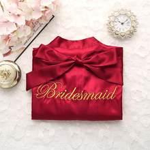 Женское кимоно с вышивкой из искусственного шелка, халат для невесты и подружки невесты, Сексуальная Мини ночная рубашка, пижамы, халаты для...(Китай)