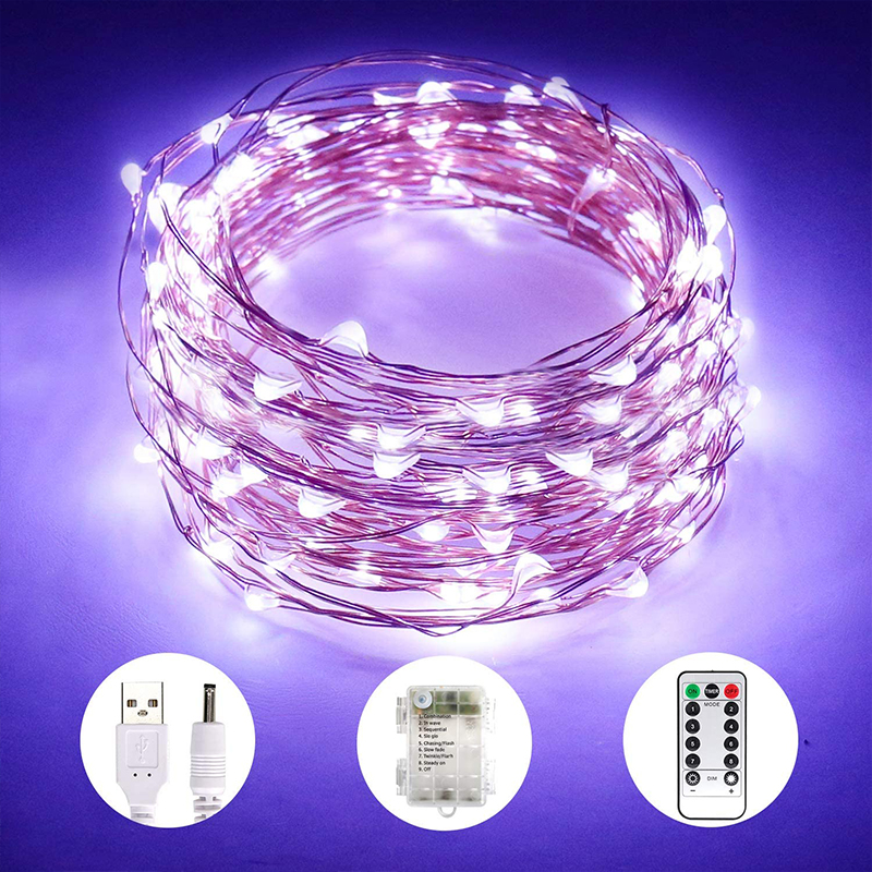 LED String lights 1/2/3/4/5/10M   Shower Rain Led  Christmas lights Holiday gift lantern Copper wire lamp  twinkle light
