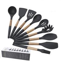 Amazon hot sale 9-piece Non-stick Silicone Kitchen Utensils Heat Resistant Cooking Utensil Set
