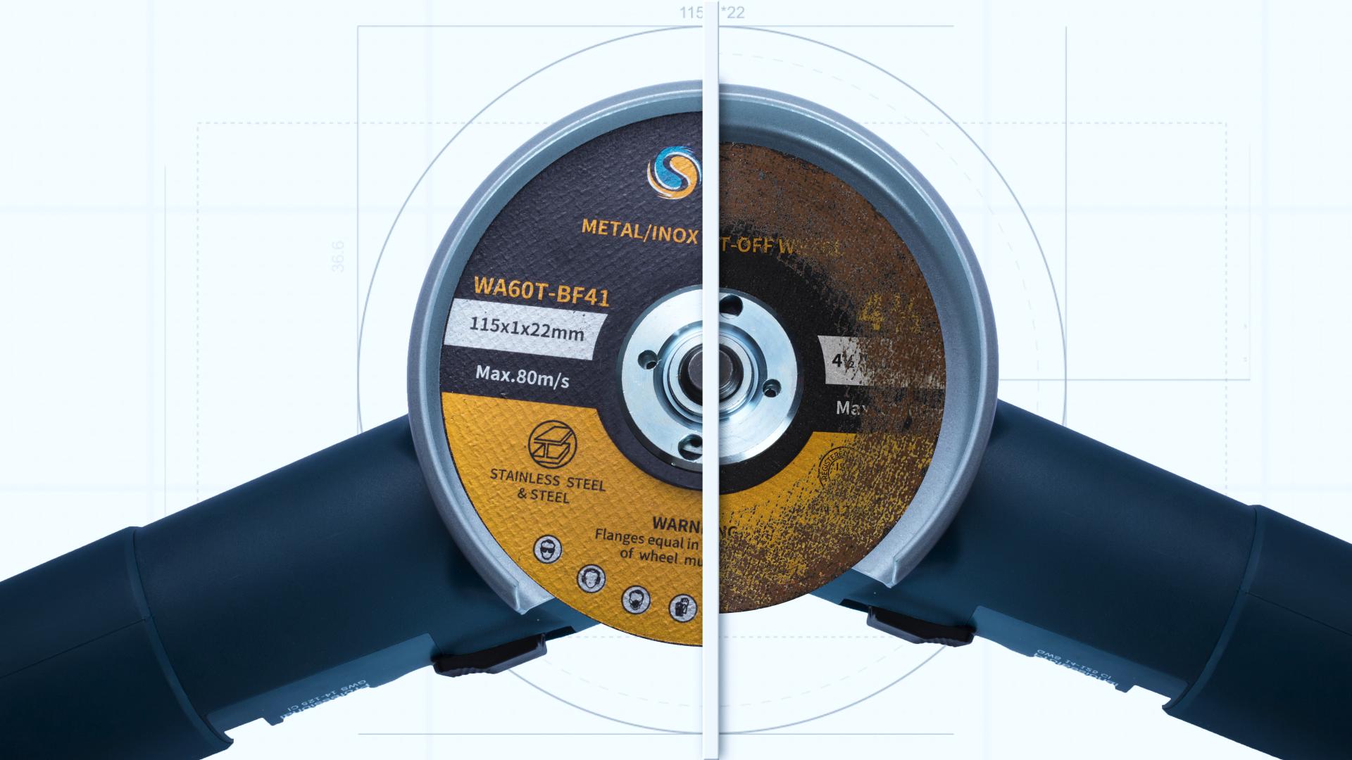 SATC 고속 5 인치 125*1*22 커팅 휠/커팅 디스크/스테인레스 절단 MPA 인증서