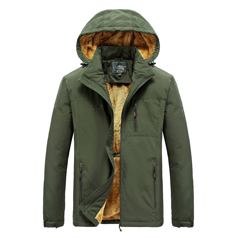 Custom Men Winter Thickening Fleece Warm Outdoor <strong>Military</strong> <strong>Style</strong> Track Hood <strong>Jacket</strong> Men Plus Size Bomber <strong>Jacket</strong> Coat