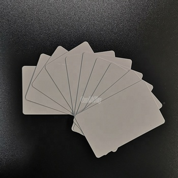 80*120mm whole sale factory price inkjet plastic pvc id card print employee card work card custom