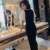 2020 Fashion Office Lady Casual Dress Slim Lace Puff Sleeve Elegant Dresses Women