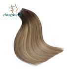 Weave Hair Hair Weave High Quality Double Drawn Balayage Real Russian Remy Human Sew In Weave Double Weft Hair Extensions