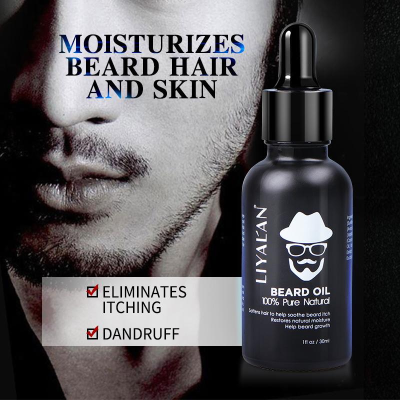 Wholesale Custom Private Label Best Men Care Beard Growing Oil Natural Organic Vegan Beard Growth Oil