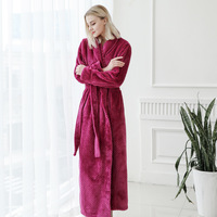 hotel microfiber bathrobe home family couple breathe freely bath robe gown