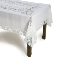 Luxury Embroidery machinery table cloth table runner linen