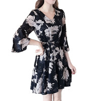 New floral dress female summer dress summer 2020 new style women's dress fashion student Korean version thin fashion