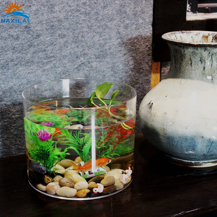 NAXILAI Hot Selling Circle Aquariums Fish Tanks Glass Small Acrylic Hanging Fish Tank Plastic Fish Bowl Mini