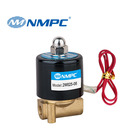 2W025-08 Brass Body Electric Solenoid Control Valves DC12V Medium Pressure Viton Sealing Mini Solenoid Valve