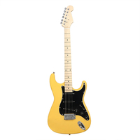 Wholesale electric guitar yellow basswood electric guitar for concert