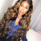 13x4 13x6 360 Lace Front Human Hair Wigs Highlights Honey Blonde Ombre Brown Body Wave Wig for Woman Preplucked