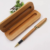 Luxury Triangle Bamboo Single Pen Packaging Box Bamboo Pen Case
