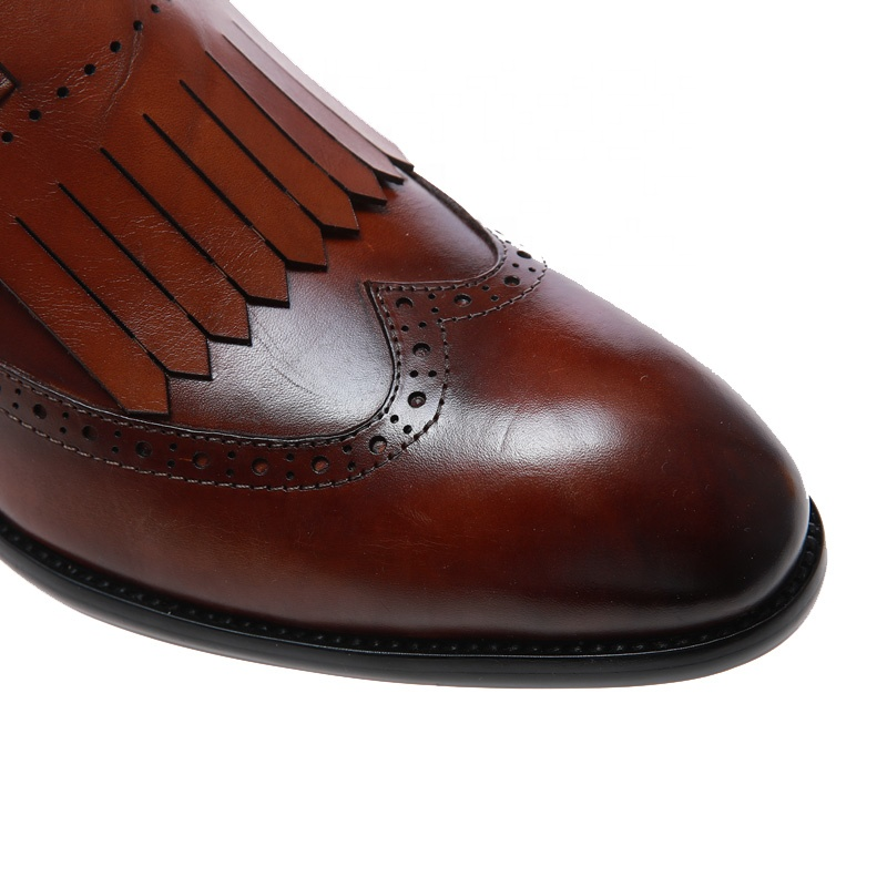 Casual smart dress height increasing genuine leather custom formal dance designer wedding shoes for men