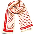 Design Your Own Printed Scarves Chinese 100% Silk Red Logo Beige Dolphin Shawls Factory Manufacturer Oblong Custom Made Scarf