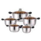 1mm Thick Cooking Pot Stainless Steel Cooking Pot Set Cookware Set