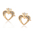 99539 Xuping fashion design gChristmas New Promotional New Heart Shaped Crown Shape Stud Earrings