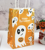 Wholesale Ghost Pattern Disposable Bread Popcorn Gifts Paper Packaging Candy Bag For Halloween