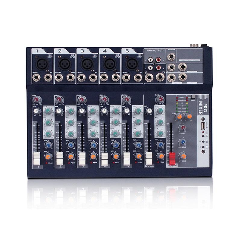 Profesional MP3 USB OEM DJ 7 Channel Suara Mixer