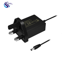 UK 3 pin plug 3V 6V 1a 1.5a 2a AC DC switching power adapter