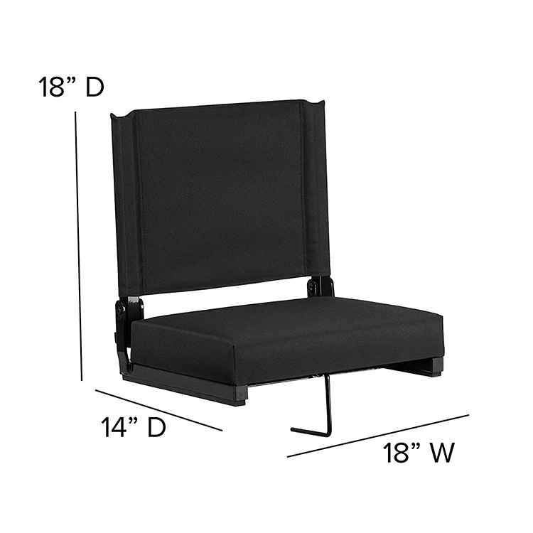 Wide Stadium Seat Bleacher Chair Folding Seats Sport Football Chair Reclines For Bleachers Lawns and Backyards