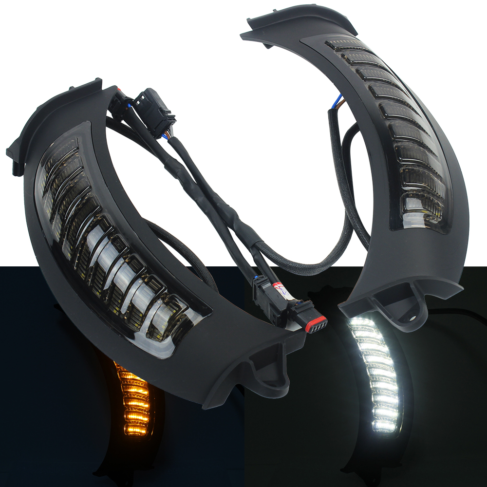 Newest LED White Running Amber Turn Singal Light Kit For Road Glide 2015+ Motorcycle