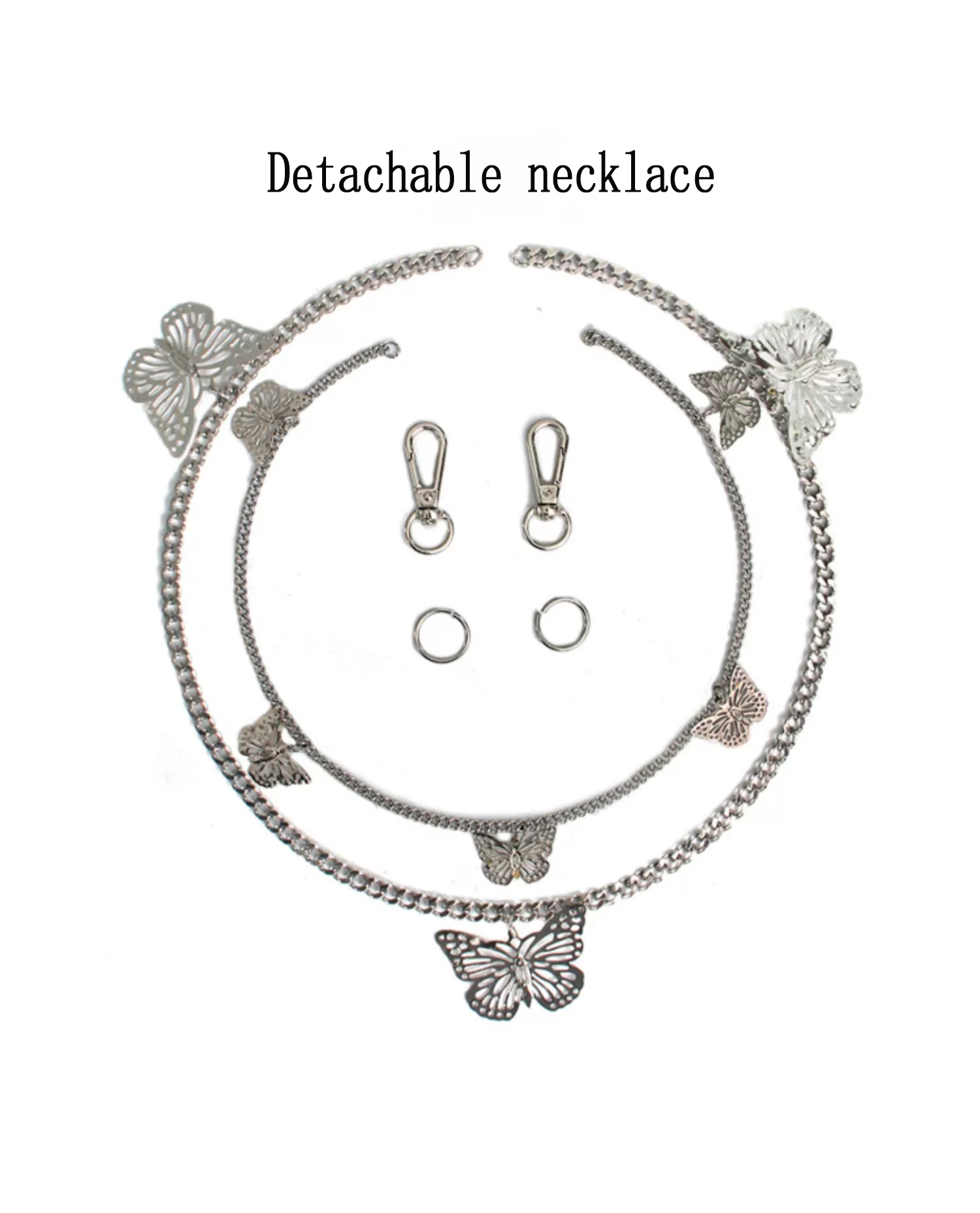 2020 Hot Sale Waist Chain Necklace All-match Double-layer Butterfly Pants Chain Jewelry Hip-hop Belt Hanging Chain Accessories