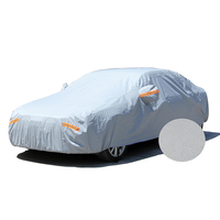 2 layer aluminum film peva and cotton full car cover fabric Waterproof UV hail snow protection Dust Sunproof Car body Cover