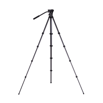 Thor Aluminium Alloy Professional Lightweight Large 6kg Load Camcorder Digital Camera Video Tripod with Fluid Head