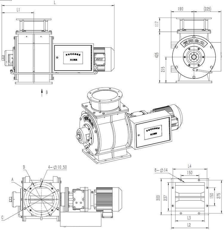2020 Hot Koop Stromen Door Roterende Luchtsluis Klep Voor Poeder Pneumatisch Transport Systemen