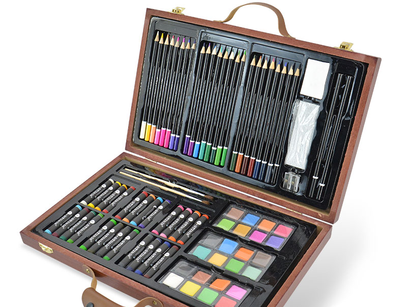 Daluxe Drawing Box of Wooden  Art Set