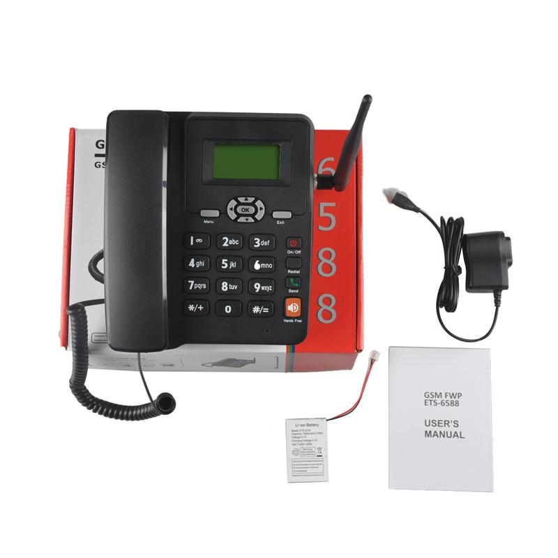 Desktop phone with sim card 2G GSM ETS-6588