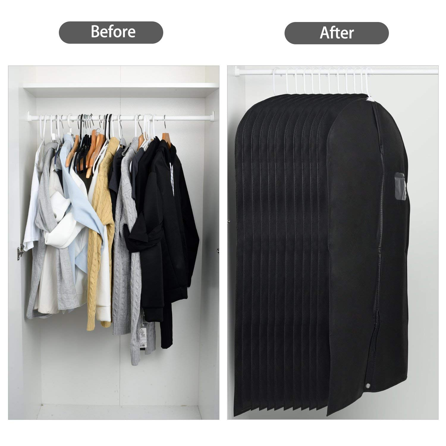 Foldable Garment Suit Covers Wholesale light weight Custom garment bag