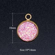 5 шт./лот из настоящей нержавеющей стали Сверкающая Звезда Смола DIY подвеска оптовая продажа кулон для ожерелья никогда не тускнеет(Китай)