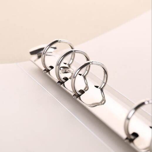 A4/A5/A6/A7/B5 Loose Leaf Binder PP Clear Spiral Notebook Cover Ring Binder File Folder With Elastic Band