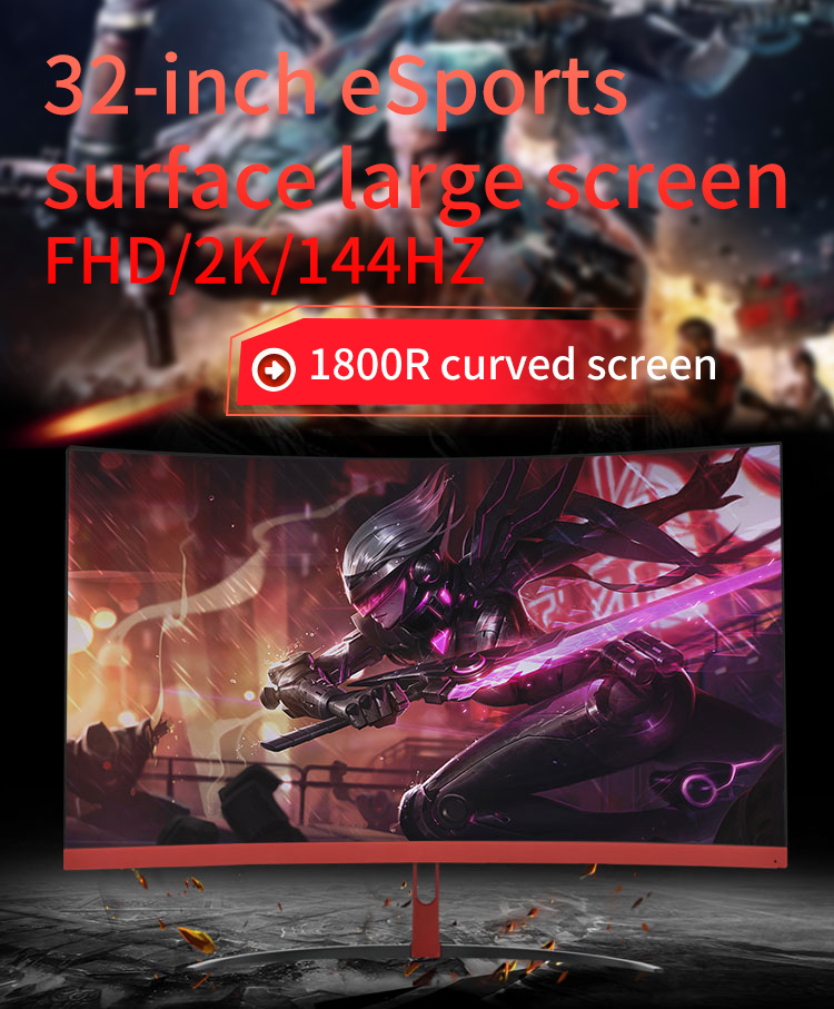 curved ultra wide 32 inch led gaming monitor 1440p sync