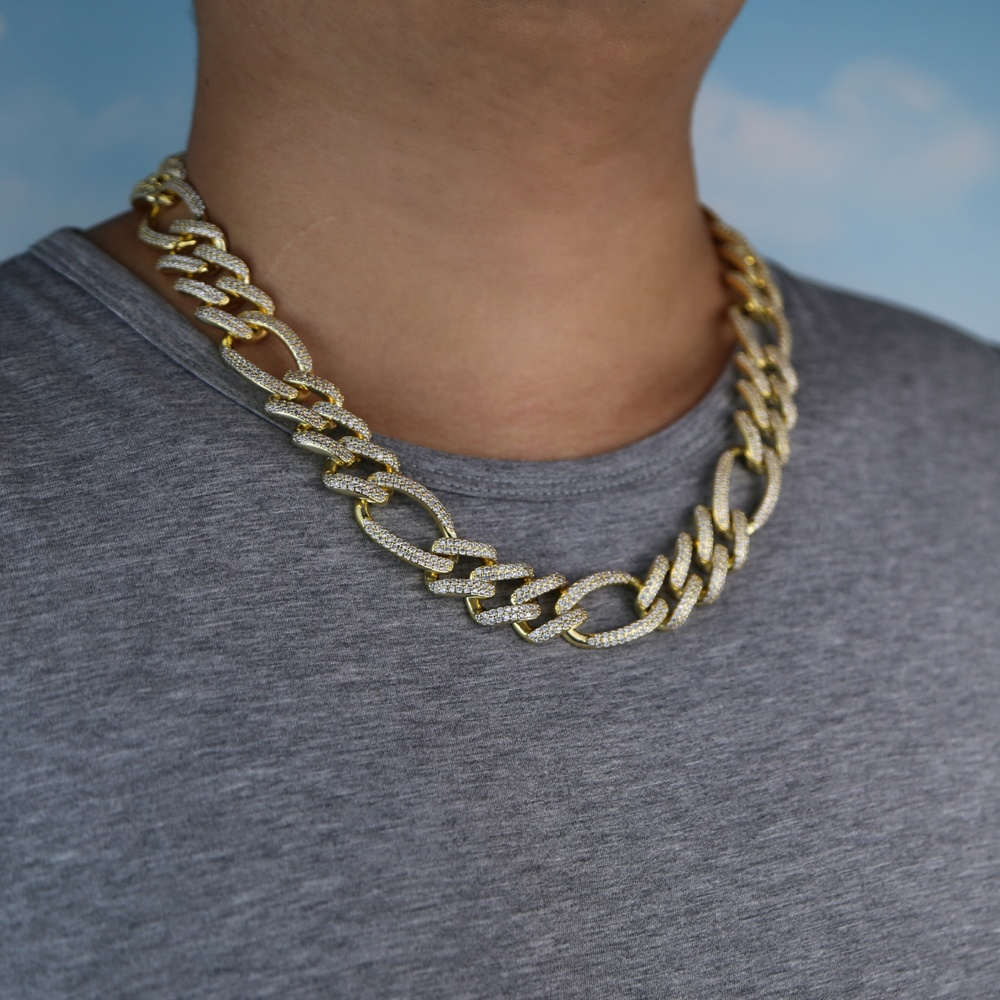 big heavy cuban chain for men micro pave 5A cz hip hop bling cuban necklace