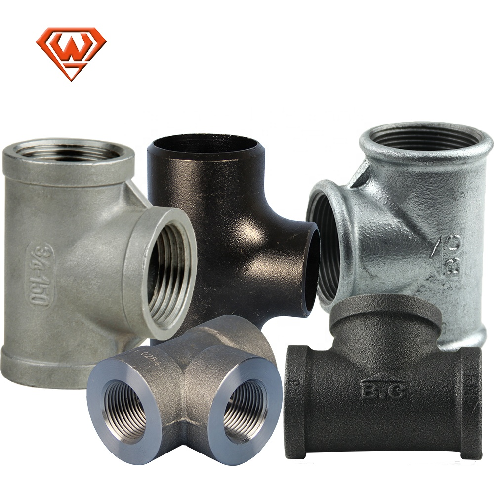 carbon steel / stainless steel Cast Iron Pipe Fittings Tee