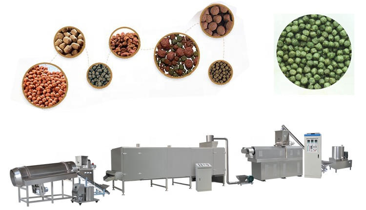 High quality Floating Fish Feed Pellet Making Machine Sinking fish feed extruder machine