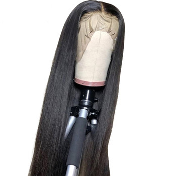 Vendor 13X4 Hd Transparent Swiss Lace Wigs Long Human Hair Lace Front Glueless Brazilian Straight 100% Virgin Hd Full Lace Wig